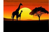 Wild life Africa — Stock Vector