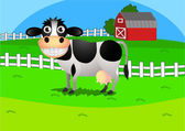Cow at farm — Stock Vector