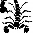 Stock Vector: Scorpion tatoo