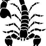 Scorpion tatoo — Stock Vector