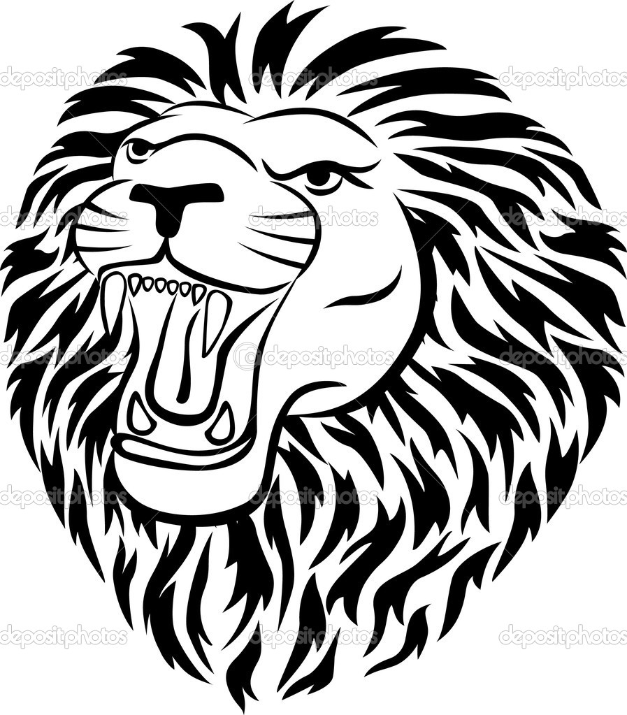 Vector illustration of lion tattoo  Stock vektor #3666458