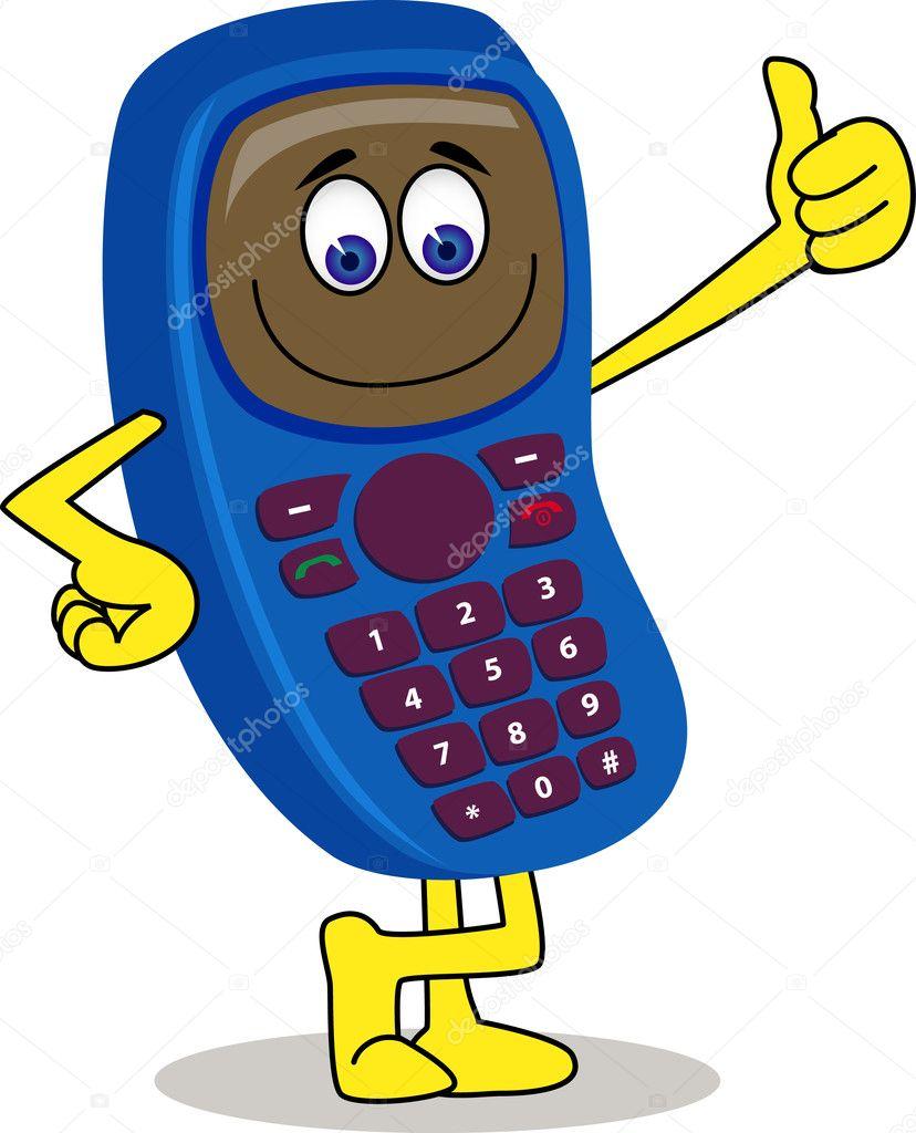 Сотовый телефон в рисунках
