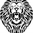 Royalty-Free Stock Векторное изображение: Lion tattoo