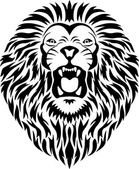 Lion tattoo — Stock Vector