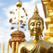 Golden Buddha statue, Thailand - Stock Photo
