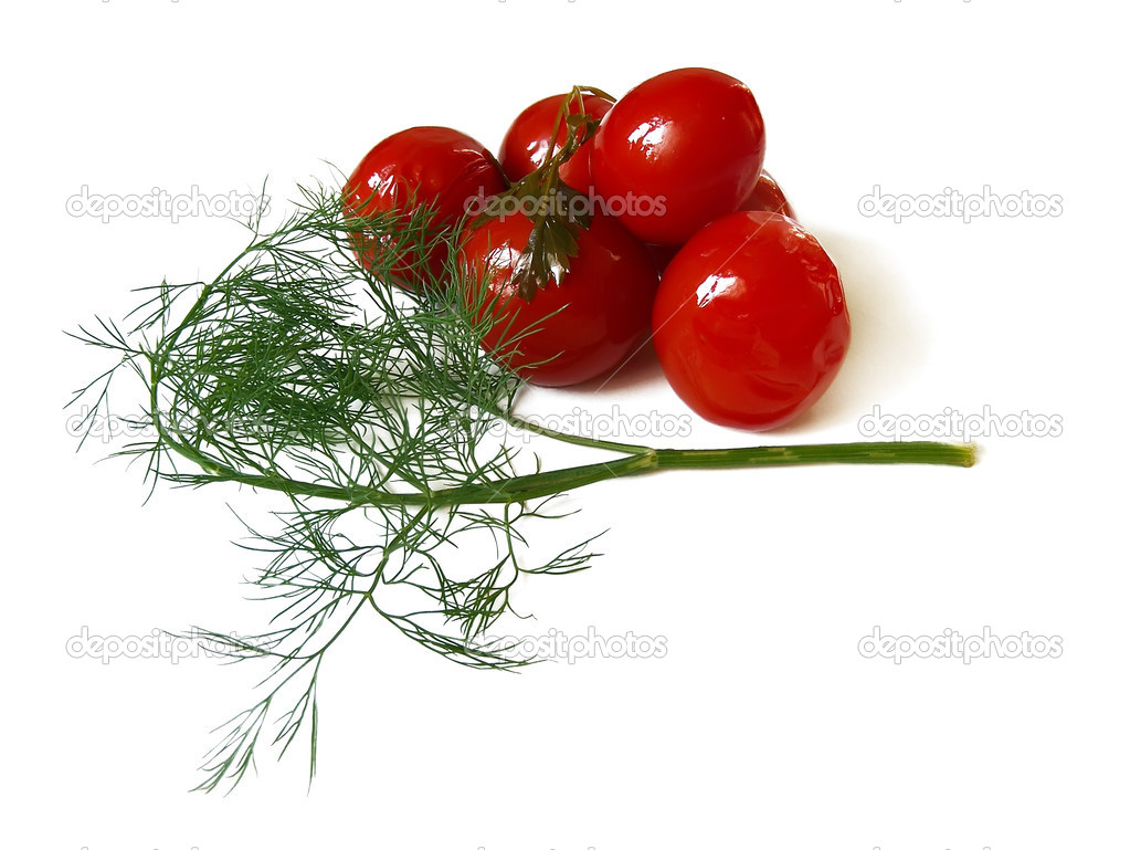 Marinated tomatoes on white background  Photo #2893988