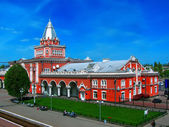 Railway station in the town of Chernigov — Stock Photo