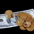 Stock Photo: Money for black background