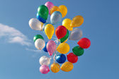 Balloons against the blue sky — Stock Photo