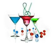 Music bar cocktails — Stock Photo