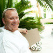 Irish Man in Tropical Area — Stock Photo