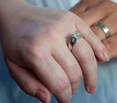 Wedding Band Hands — Stock Photo