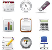 Oficina icono set1 — Vector de stock