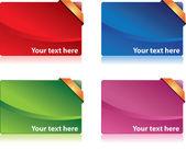 Colored bonus cards — Stock Vector