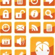 Simple, modern orange office icons - Stock Vector