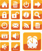 Simple, modern orange office icons — Vector de stock