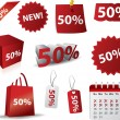 Discount label vector - Stock Vector