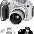 Digital camera — Stock Vector