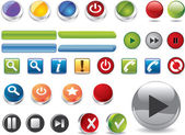 Web buttons — Stock Vector