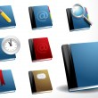 Vector book icon set - Stock Vector