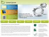 Vector gears template design — Stock Photo