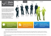 Vector website design template — Stock Photo