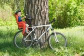 Bebé de la bicicleta — Foto de Stock