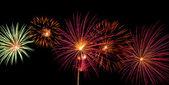 Fireworks on black — Stock Photo