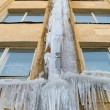 Gutter with ice — Stock Photo #2771866
