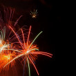 Fireworks with copyspace — Stock Photo