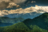 Remote glacier and clouds — Stock Photo