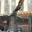 Heavy dredger demolishes building — Stock Photo #2855356
