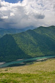 Mountains landscape with river — Stock Photo