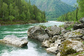 River with boulders — Stock Photo