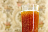 Glass with carbonated drink — Stock Photo