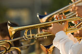 Gold trombones — Stock Photo