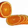 Slices of orange on white background — Stock Photo #2837288