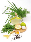 Salad ingredients — Stock Photo