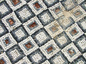 Mosaic on the floor — Stock Photo