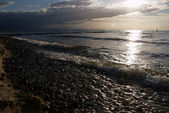 Playa de noche — Foto de Stock