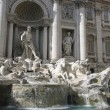THE FOUNTAINS OF TREVI IN ROME, ITALY — Stock Photo