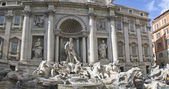 Panoramic view of the Trevi Fountain — Stock Photo