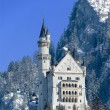 The castle of Neuschwanstein, Fuessen, Gerrmany - Stock Photo