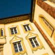 Painted house in Bad Tölz, Germany - Stock Photo