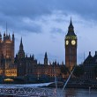 The big ben tower in London, United Kingdom — Stock Photo