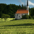 Lonely Church in Bavary - Stock Photo