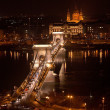 The Chain Bridge in Budapest, Hungary — Stockfoto