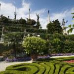 The baroque gardens of the Isola Bella, Lagomaggiore — Stock Photo