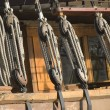 Marine cords on an old ship — Stock Photo #3636079