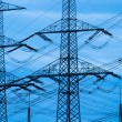 Stock Photo: Power Lines for electricity transport